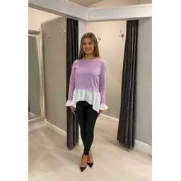 Lucy Cobb Two In One Shirt Jumper  in Lilac