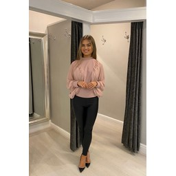 Lucy Cobb Blair Batwing Top   - Blush Pink