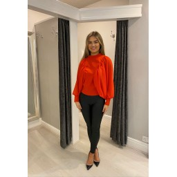 Lucy Cobb Blair Batwing Top   - Red