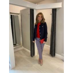 Robell Trousers Happy Jacket - Navy (69)
