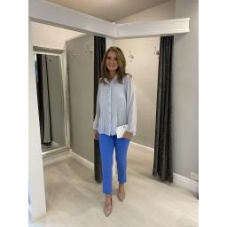 Lucy Cobb Clemmie Button Front Blouse - Pale Blue Mix