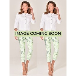 Robell Trousers Rose 09 Jacquard Trousers - Lime Green