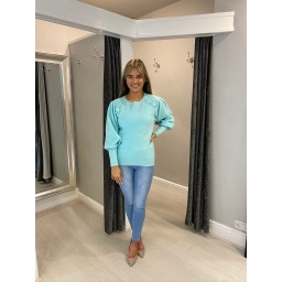 Lucy Cobb Patsy Puff Sleeve Jumper - Mint