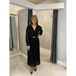 Lucy Cobb Pleated Two Way Jumpsuit in Black (90)