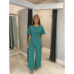 Lucy Cobb Daisy Jumpsuit  - Green