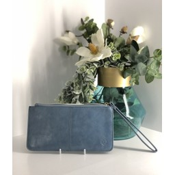 Lucy Cobb Purse With Wrist Strap - Duck Egg Blue
