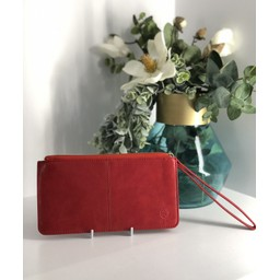 Lucy Cobb Purse With Wrist Strap - Red