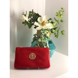 Lucy Cobb Bags Toni Clutch With Strap - Red