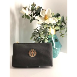 Lucy Cobb Bags Toni Clutch With Strap in Dark Grey