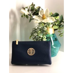 Lucy Cobb Bags Toni Clutch With Strap in Navy