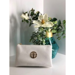 Lucy Cobb Bags Toni Clutch With Strap in White