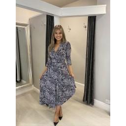 Lucy Cobb Wren Wrap Dress - Black & White