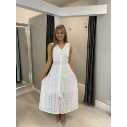 Lucy Cobb Leah Lace Maxi Dress - White