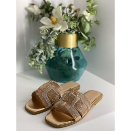Lucy Cobb Giselle Sandals in Champagne