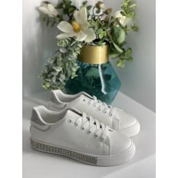Lucy Cobb Diamante Sole Trainers - White