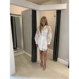 Lucy Cobb Organza Floral Shirt - White