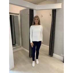 Lucy Cobb Stella Stretch Denim Jeans - Navy