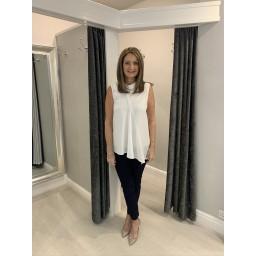 French Connection Abena Sleeveless Top - White