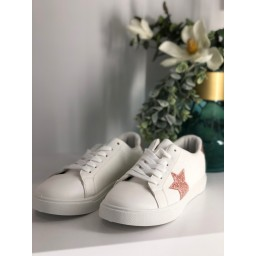 Lucy Cobb Sparkle Star Trainers  - Rose Gold