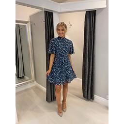Lucy Cobb Sasha Skater Dress in Denim Blue Mix