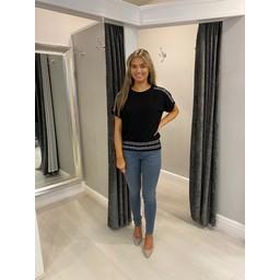 Lucy Cobb Zara Diamante Blouson T-shirt - Black (90)