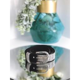 Malissa J Sparkle Bling Belt - Silver