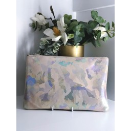 Malissa J Leather Zip Wallet - Stone Mix