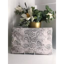 Malissa J Leather Zip Wallet - Beige Animal Print