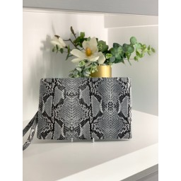 Malissa J Snake PU Wallet  in Grey
