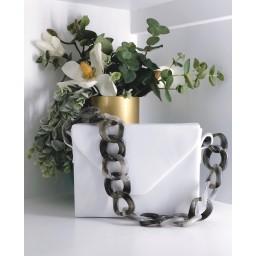 Malissa J Square Resin Strap bag - White