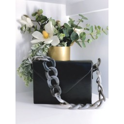 Malissa J Square Resin Strap bag - Black (90)