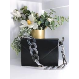 Malissa J Square Resin Strap bag - Black