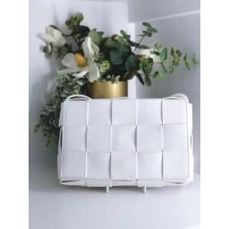 Malissa J Weave Crossbody Bag - White