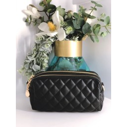 Malissa J Mini Quilted Bag in Black