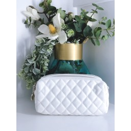 Malissa J Mini Quilted Bag in White