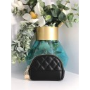 Quilted Coin Purse - Black