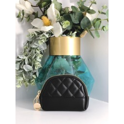 Malissa J Quilted Coin Purse in Black