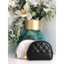 Quilted Coin Purse - Black - Alternative 1