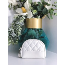 Malissa J Quilted Coin Purse in White