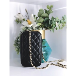 Malissa J Quilted Camera Case Bag - Black