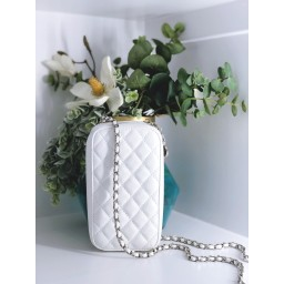 Malissa J Quilted Camera Case Bag in White
