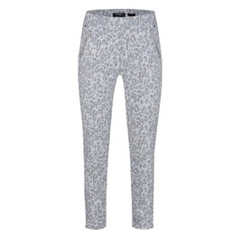 Robell Trousers Nena 09 Leopard Print Trousers - Silver