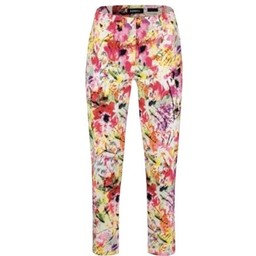 Robell Trousers Bella 09 Bright Floral Print Trousers - Floral