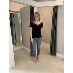 Malissa J Bling V T Shirt - Black