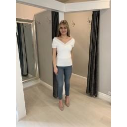 Malissa J Bling V T Shirt - White