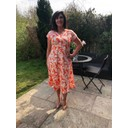 Susan Dress - Tangerine Leaf - Alternative 1