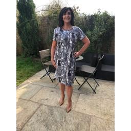 Alice Collins Maisie Dress - Grey Mix