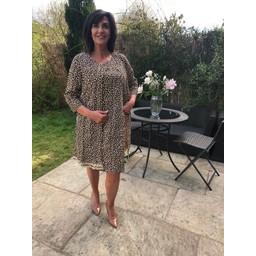 Alice Collins Sandra Longline Jacket - Cheetah Print