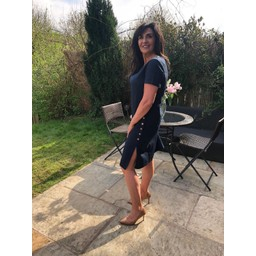 Alice Collins Kylie Dress in Navy