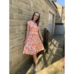 Alice Collins Susan Dress - Tangerine Leaf